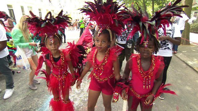 Children performing at the Notting Hill Carnival