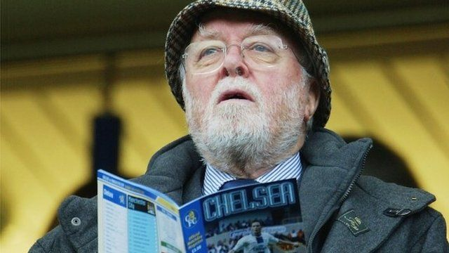 Lord Attenborough at a Chelsea game in 2003