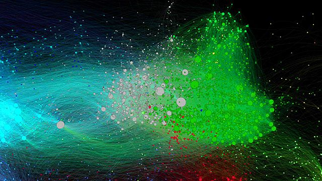 A map of social media interactions