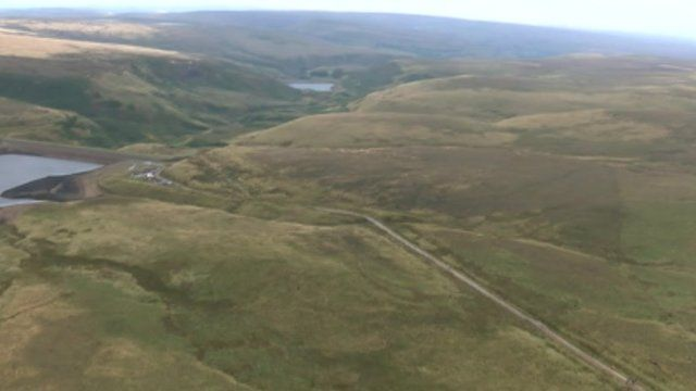 Aerial view of the moors