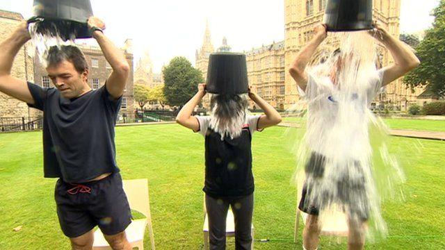 Tom Brake, Seema Malhotra and Peter Bone get wet