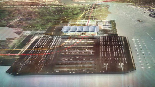 Potential design for Thames Estuary airport