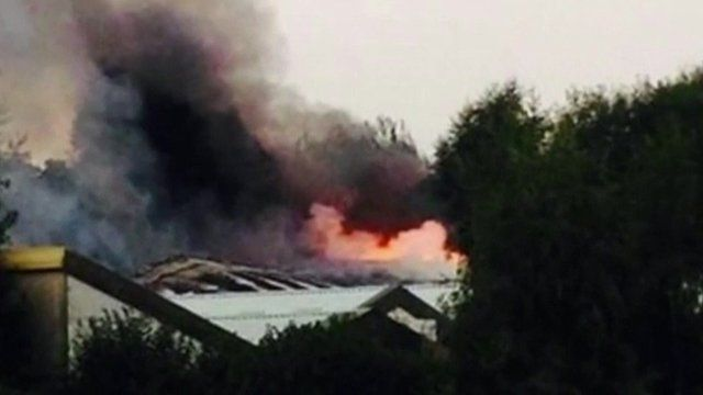 Dogs home in Manchester in flames