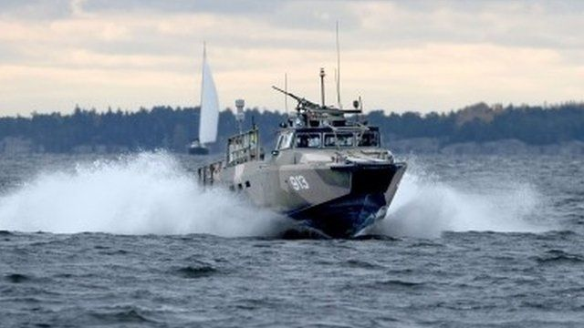 Swedish Navy fast-attack craft patrols in the Stockholm Archipelago