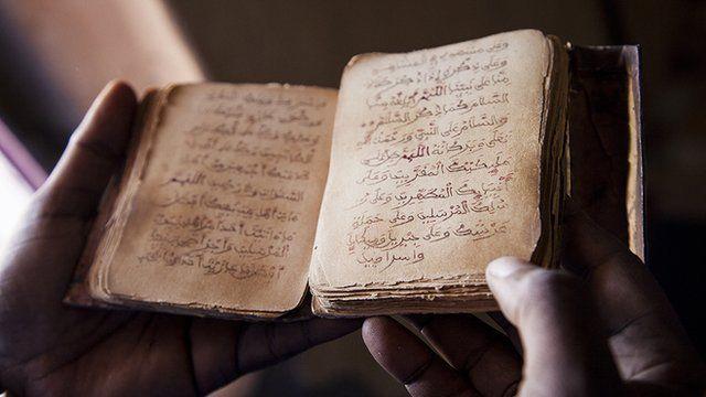 An ancient manuscript from Timbuktu, Mali
