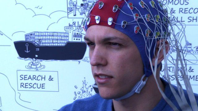Brain-controlled drone headset