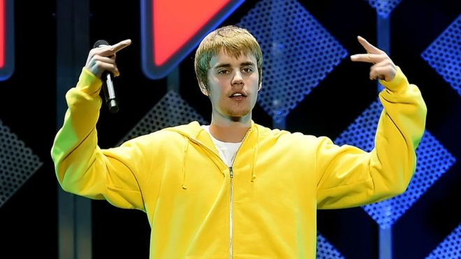 Justin Bieber performs in concert in 2016