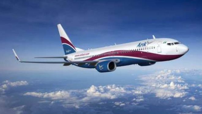 An Arik Airline plane