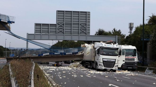 Drivers described slamming on their brakes and hearing the collision