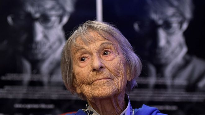 Brunhilde Pomsel, la que fuera secretaria de Joseph Goebbels, el ministro de Propaganda nazi, entre 1942 y 1945.