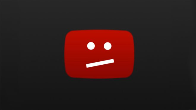 Mensaje de error de YouTube