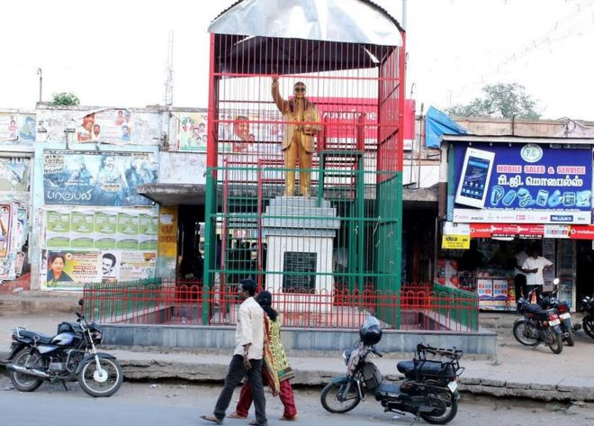 Ambedkar in cage
