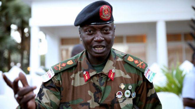 Jenerali Badjie amuunga mko rais Jammeh licha ya mataifa ya magahribi kutoa vitisho vya kijeshi dhidi yake