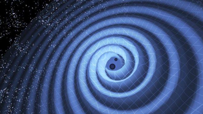 Ilustración de ondas gravitacionales