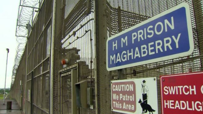 The gates of Maghaberry prison
