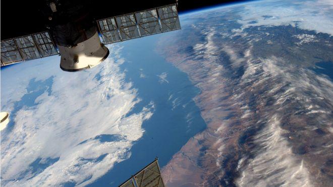 Imagen tomada por el astronauta de la NASA Jeff Williams desde la Estación Espacial Internacional (EEI)