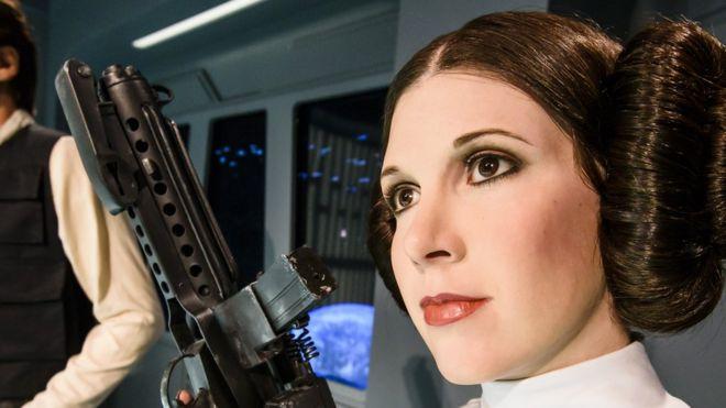 Princesa Leia con el peinado emblemático
