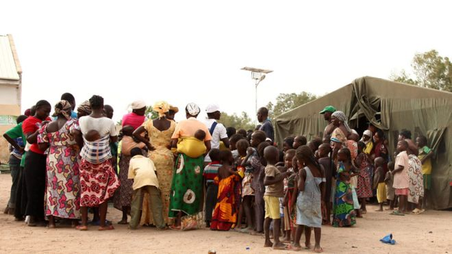 People in Yola IDP camp (file photo)