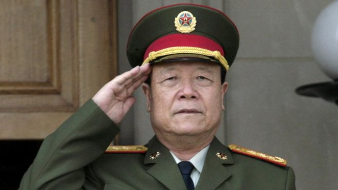 File photo of China's then Central Military Commission former Vice Chairman General Guo Boxiong standing in Washington