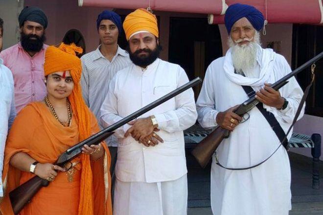 Sadhvi Deva Thakur (left)