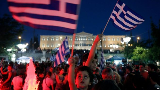 Greek voters vote no