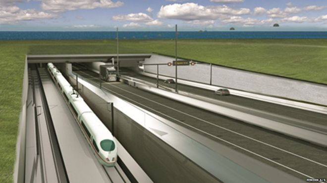 Artist's impression of Fehmarn road-rail tunnel (pic: Femern A/S)