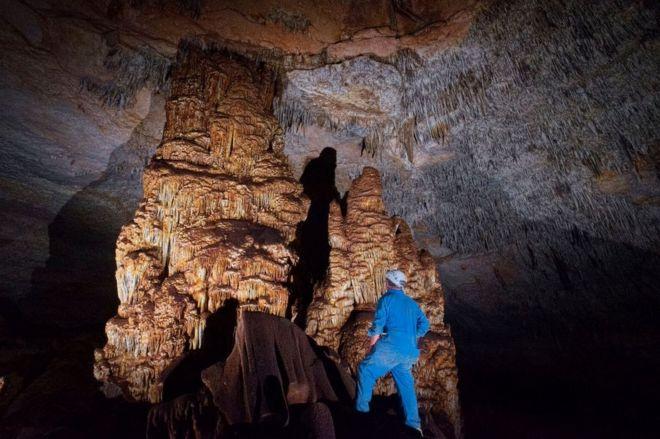 Interior of a cave beneath the Nullarbor
