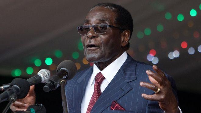 Rais Mugabe akihutubu Februari 27, 2016