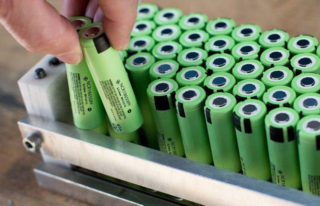 Baterías de litio.