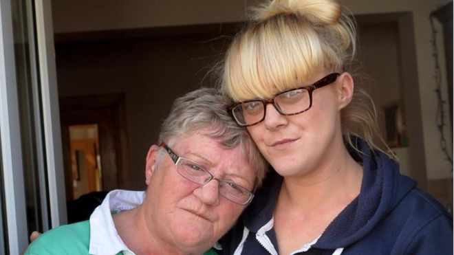 Image caption Mary McQuillan and her daughter, also called Mary, were in the house at the time of the attack - _84825827_shootingwomen