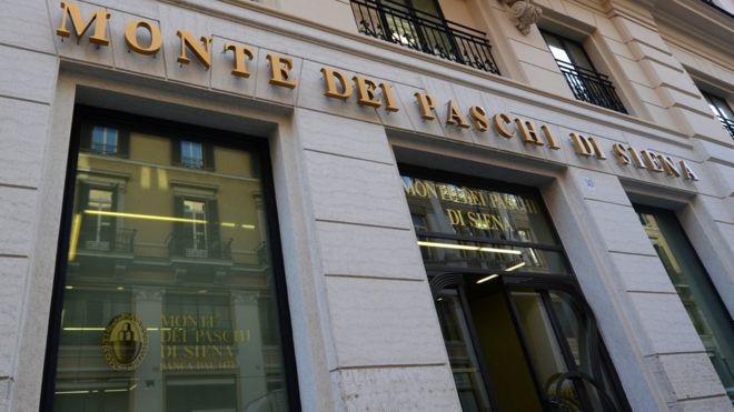 Monte dei Paschi di Siena bank branch in Rome