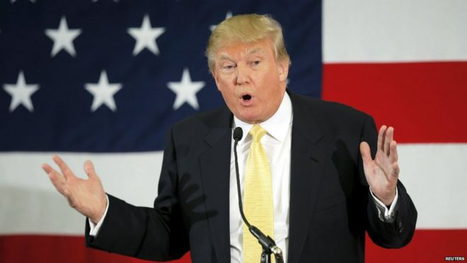 Donald Trump speaks at the First in the Nation Republican Leadership Conference in Nashua - 18 April 2015