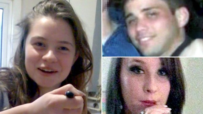Becky Watts (left), Nathan Matthews (top right) and Shauna Hoare (bottom right)