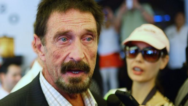 """John McAfee has said he will decrypt the phone """"for free"""""""