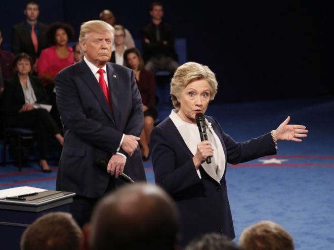 Clinton y Trump volvieron a verse las caras en San Luis.