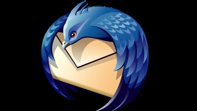 El logotipo de Thunderbird