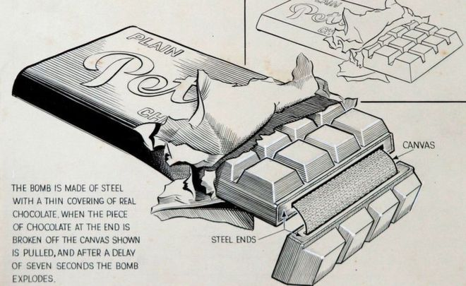 Army mess tin with concealed explosive