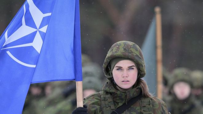 Nato soldier in Lithuania (2 Dec)