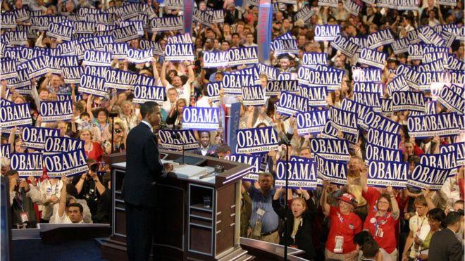 Barack Obama durante la Convención Demócrata de 2004.