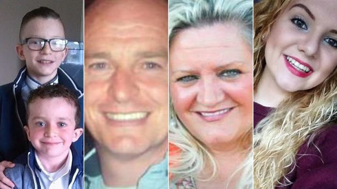 The five victims of the drowning tragedy