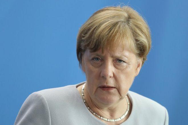 German Chancellor Angela Merkel in Berlin, 27 June