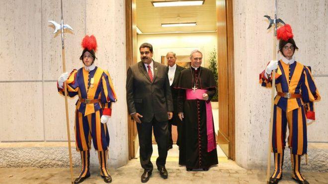 Papa Francis amekutana na Rais Maduro Vatican