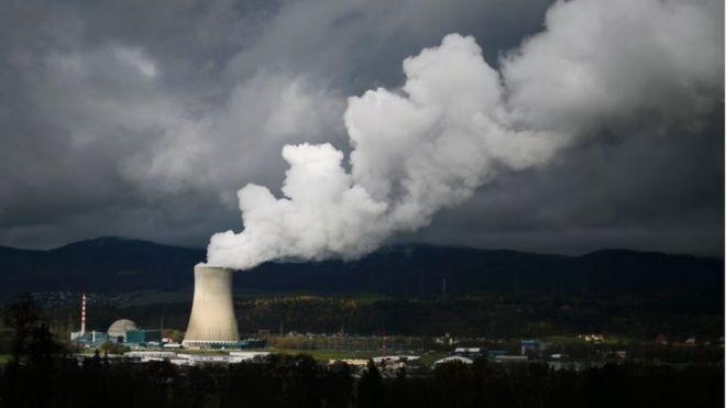 The Goesgen Nuclear Power Plant near Daeniken, northern Switzerland, on 11 November 2016