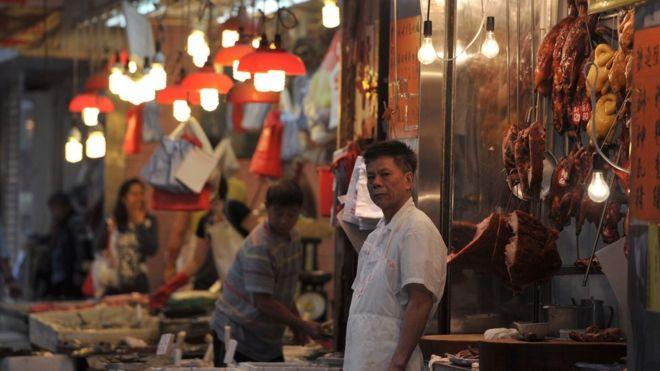 A Hong Kong wet market