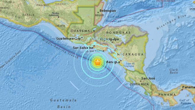 Posición del terremoto