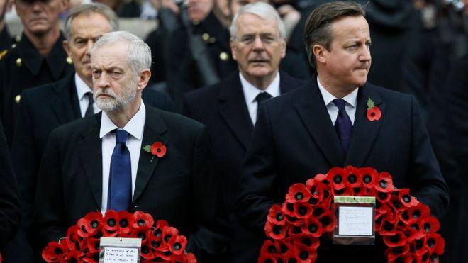 Jeremy Corbyn and David Cameron