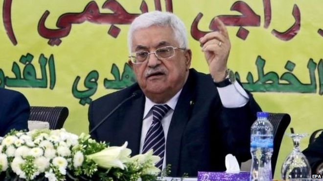 Palestinian President Mahmoud Abbas. Photo: 16 June 2015