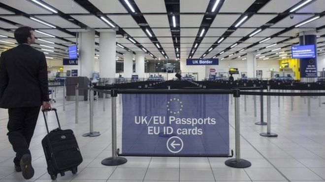 Immigration control at airport
