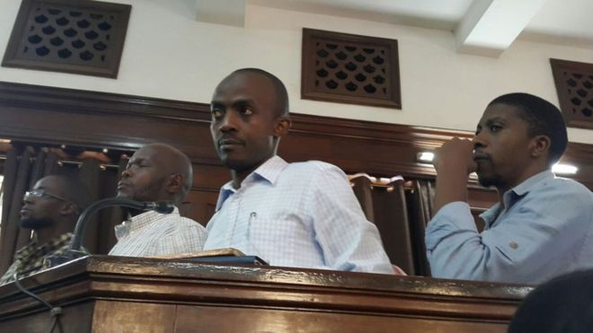 Five men appear in court in Uganda over an al-shabab claimed bombing