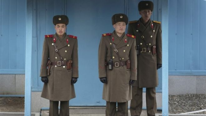 North Korea guards in the Panmunjon truce village (file image)